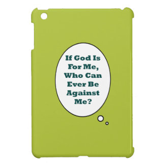 Romans 8:31 On Acid Green Background. Motivational Cover For The iPad Mini