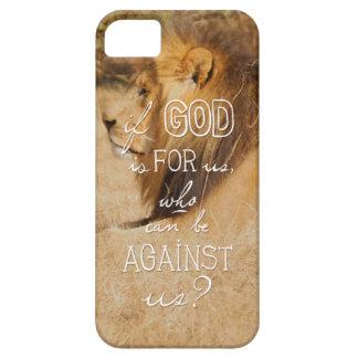 Romans 8:31 orange gold lion iPhone 5 case