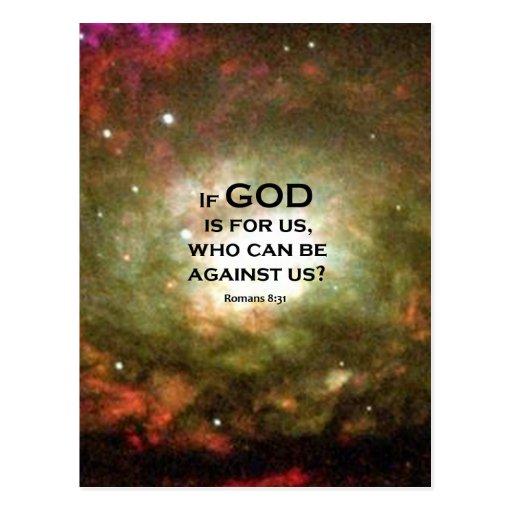 Romans 8:31 post cards