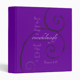 Romans 8:37 - Choose your own color! Customizable Binder