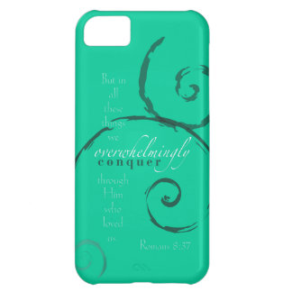 Romans 8:37 - Choose your own color! Customizable Case For iPhone 5C