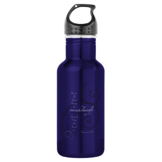 Romans 8:37 - Choose your own color! Customizable Water Bottle