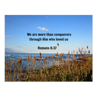 Romans 8:37 postcard