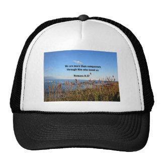 Romans 8:37 trucker hat