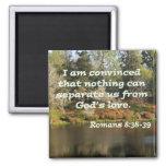 Romans 8:38-39 2 inch square magnet