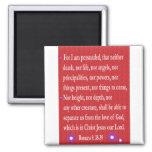 Romans 8: 38-39 magnet