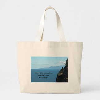Romans 8:38-39 Nothing can separate us.... Large Tote Bag