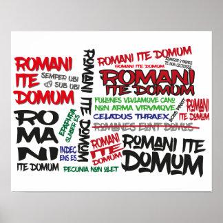Romans Go Home! Graffiti Poster