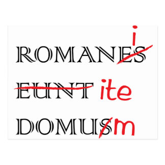 Romans Go Home Post Cards