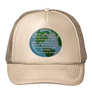 Romans learn Latin Quote. Globe Trucker Hat