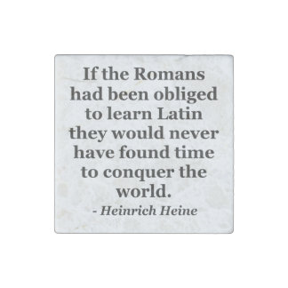 Romans learn Latin Quote Stone Magnet