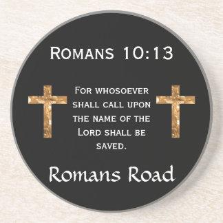Romans Road, Romans 10:13 Drink Coaster