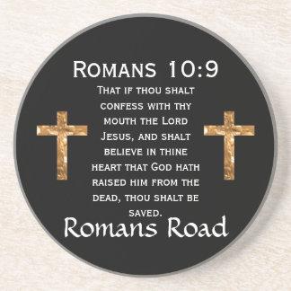 Romans Road, Romans 10:9 Drink Coaster
