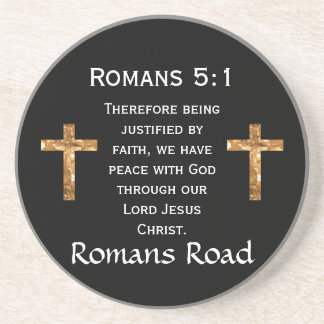 Romans Road, Romans 5:1 Drink Coaster