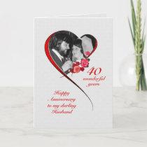 Romantic 40th Wedding Anniversary for Husband Card