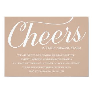 Romantic 40th Wedding Anniversary Party Invitation