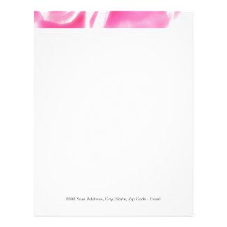Romantic Abstract Rose Petals Letterhead