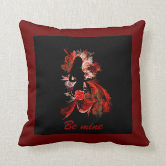 Romantic adult valentines day throw pillow