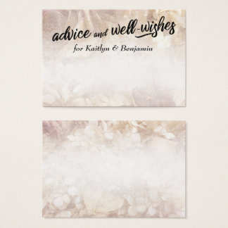Romantic Advice & Well-Wishes for Bride & Groom Business Card