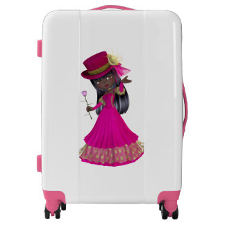 Romantic African American Girl Medium Luggage