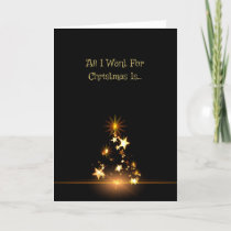 Romantic All I Want For Christmas Is Holiday Card