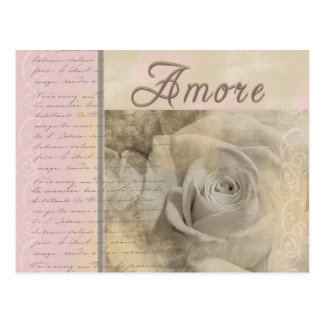 Romantic Amore Postcard