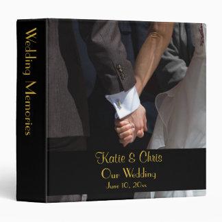 Romantic and Elegant Wedding Couple Holding Hands Vinyl Binder