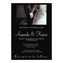 Romantic and Elegant Wedding Couple Holding Hands Card