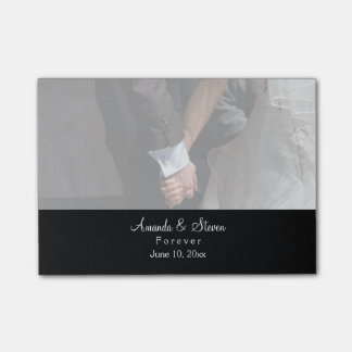 Romantic and Elegant Wedding Couple Holding Hands Post-it® Notes