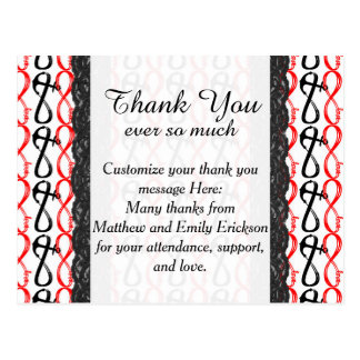 Romantic and Modern Infinity Love Anchor Postcard