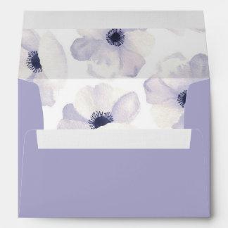 Romantic Anemones Envelope