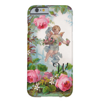 ROMANTIC ANGEL GATHERING PINK ROSES AND FLOWERS BARELY THERE iPhone 6 CASE
