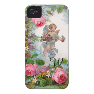 ROMANTIC ANGEL GATHERING PINK ROSES AND FLOWERS Case-Mate iPhone 4 CASE