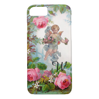 ROMANTIC ANGEL GATHERING PINK ROSES AND FLOWERS iPhone 8/7 CASE