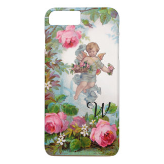 ROMANTIC ANGEL GATHERING PINK ROSES AND FLOWERS iPhone 8 PLUS/7 PLUS CASE
