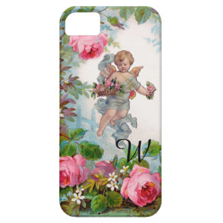 ROMANTIC ANGEL GATHERING PINK ROSES AND FLOWERS iPhone SE/5/5s CASE