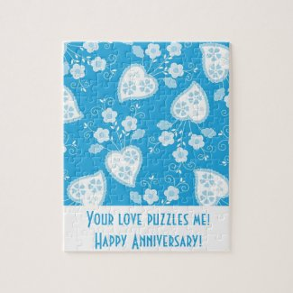 Romantic Aniversary with Portuguese Hearts Puzzle