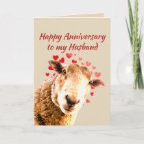 Romantic Anniversary Funny Sheep Animal Humor Holiday Card