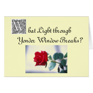 Romantic Anniversary, thanks to Shakepeare Greeting Card