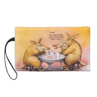 Romantic anteater wristlet purse