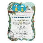 Romantic Aqua Owls Marry My Best Friend Wedding 5x7 Paper Invitation Card