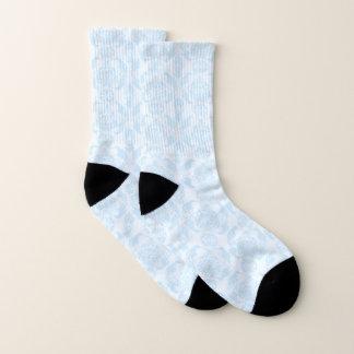 Romantic, Baby Blue Damask Socks