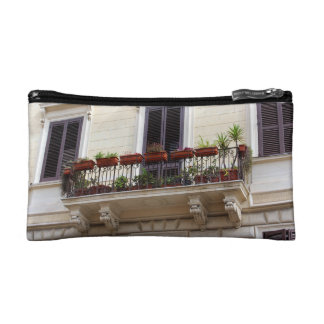 Romantic Balcony in the city of Rome, Italy Cosmetic Bag