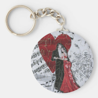 Romantic Ballroom Dancers Keychain