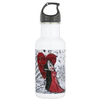 Romantic Ballroom Dancers Stainless Steel Water Bottle