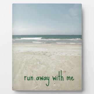 Romantic Beach Design with Quote Plaque