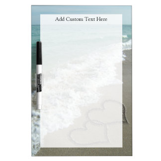 Romantic Beach Hearts Dry-Erase Board
