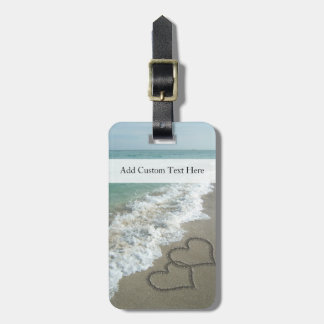 Romantic Beach Hearts Tag For Luggage