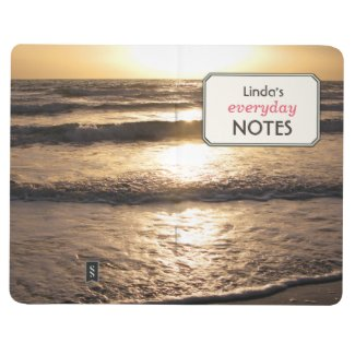 Romantic Beach Ocean Photo Custom Text Label