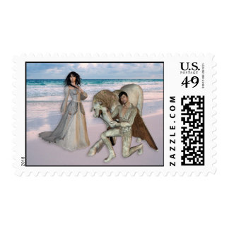 Romantic Beach Proposal by Prince Charming Stamps